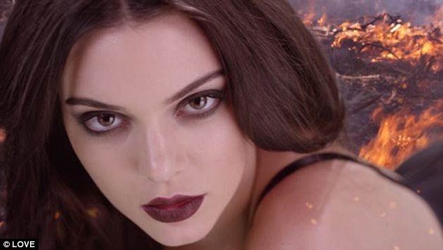 Model good looks: Kendall looks nothing short of beautiful in every single frame