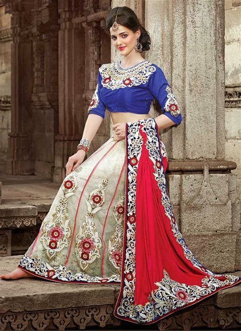 Indian Fashion Designer Wedding Saris 2014   Latest
