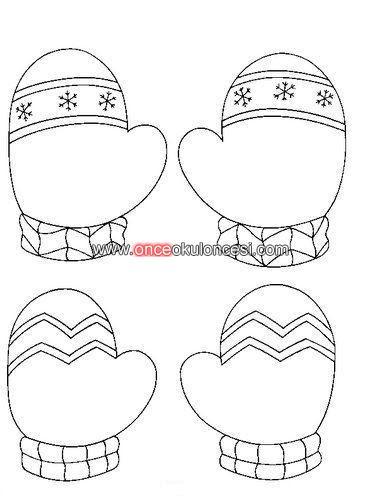Komik Fipixde Kış Mevsimi Kışlık Kıyafetler Atkı Eldiven Palto Boyama