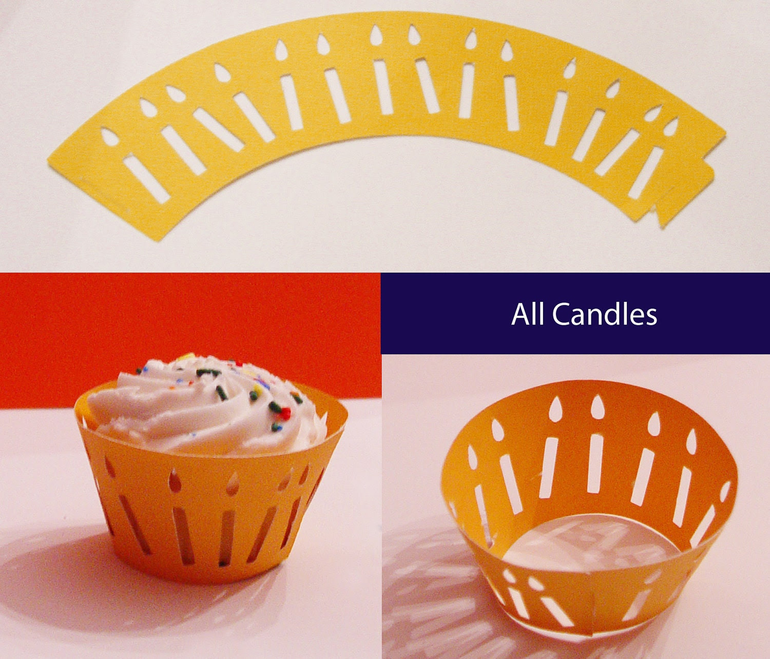 All Candles Cupcake Wrapper (cwt-011) - Made To Order