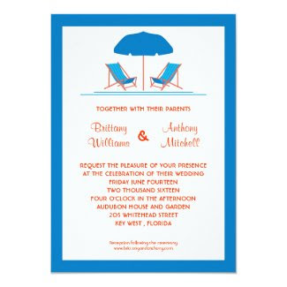 Beach Chairs Wedding Invitation