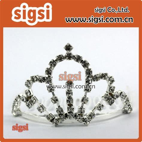 Most fashionable low price crown shape rhinestone comb for