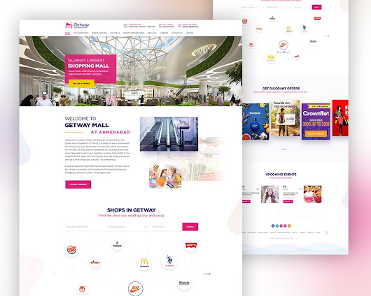 Shopping Mall Website Template PSD Download - Download PSD