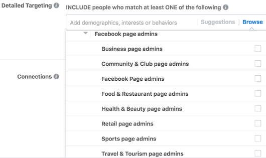 New and Reinstated Professional Targeting Options on Facebook