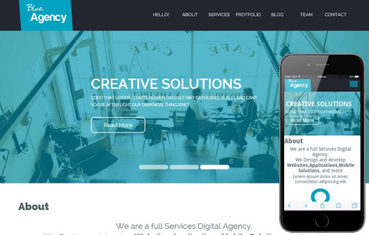 Blue Agency a Corporate Flat Bootstrap Responsive web template by w3layouts