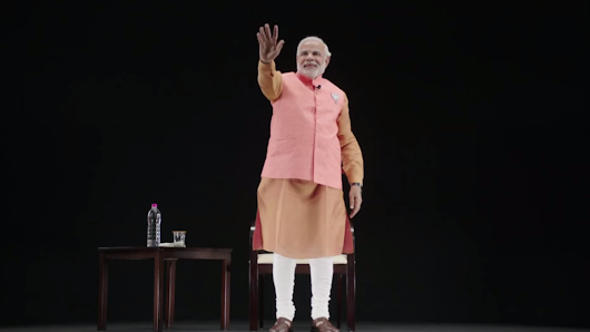 Indian politician morphs into hologram to reach millions of voters