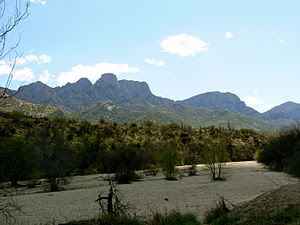 The Santa Catalina Mountains are located north...