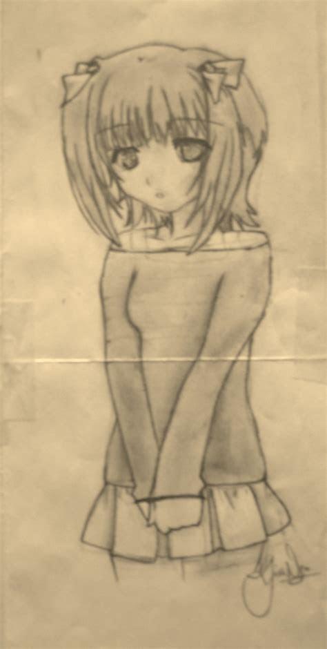 shy anime girl  kiwikittens  deviantart