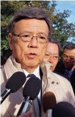 Governor Onaga travels to US to call for a stop to Henoko construction