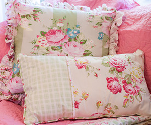 Sunshine Rose Throw Pillows