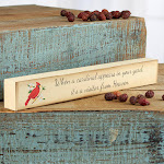 ''When a Cardinal Appears...'' Chunky Block Sign, 12'' long x 1 1/2'' high, Ivory/Cream, Craft Supplies