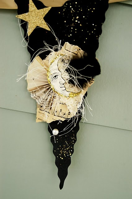 Elegant Black and Cream Halloween Banner Available in my Etsy Store http://www.etsy.com/listing/81997038/elegant-halloween-black-and-cream-banner