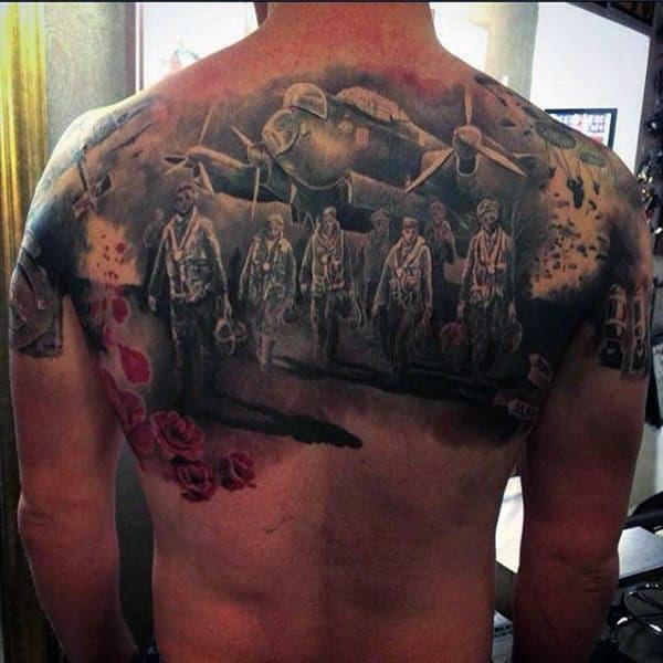 70 Ww2 Tattoos For Men Memorial Military Ink Design Ideas