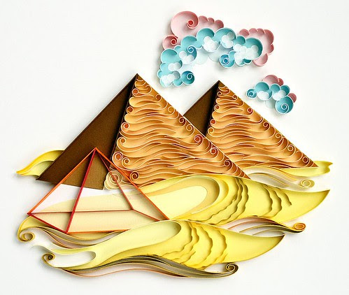 quilled pyramids