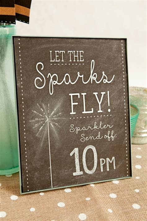 adorable wedding sparkler tags sign