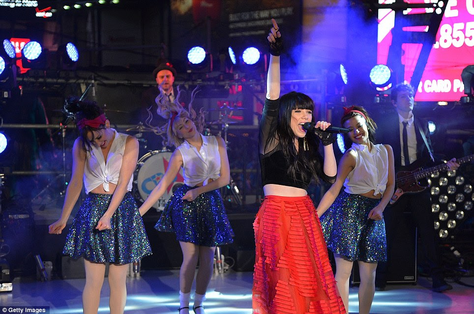 This is crazy: Singer Carly Rae Jepsen performs her pop hit 'Call Me Maybe' during the celebrations