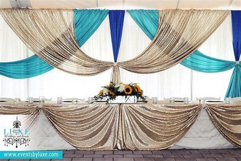 Ivory, champagne sequin, turquoise & royal blue Wedding