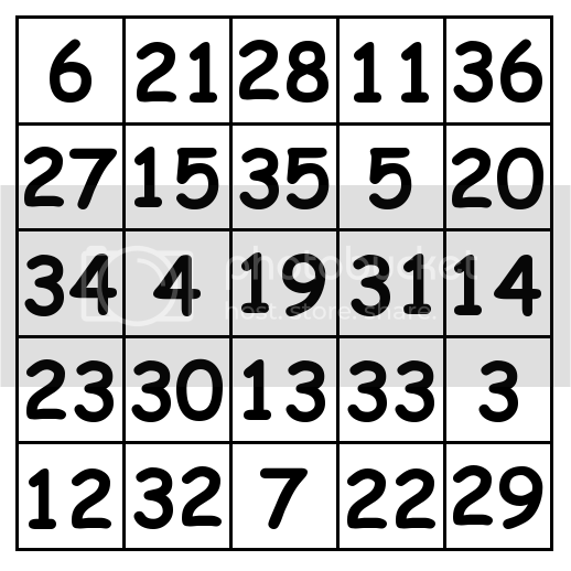 5 by 5 grid Solution 2