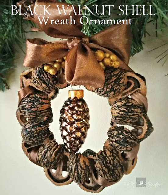 Black Walnut Shell Wreath Ornament - Redo It Yourself Inspirations - HMLP 113 Feature