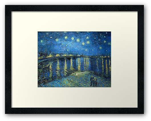 'Starry Night Over the Rhone' Framed Print by Igor Drondin