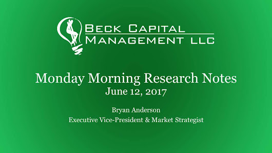 Monday Morning Research Notes - June 12th 2017 — Beck Capital Management
