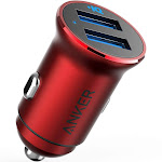 Anker Mini 24W 4.8A Metal Dual USB Car Charger, PowerDrive 2 Alloy Flush Fit Adapter, for iPhone XR/Xs/Max/X/8/Plus, iPad Pro/Air 2/Mini, and More