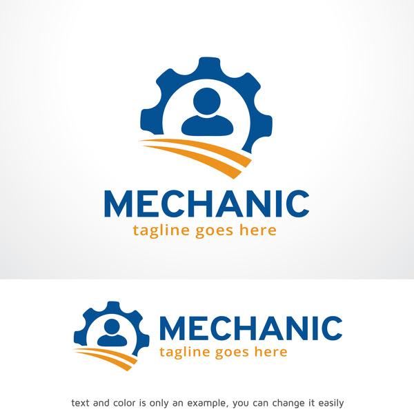 Mechanic logo vector material - Vector Logo free download