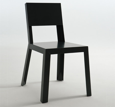 Steel Chair Design: sheet metal chairs in galvanized steel for ...
