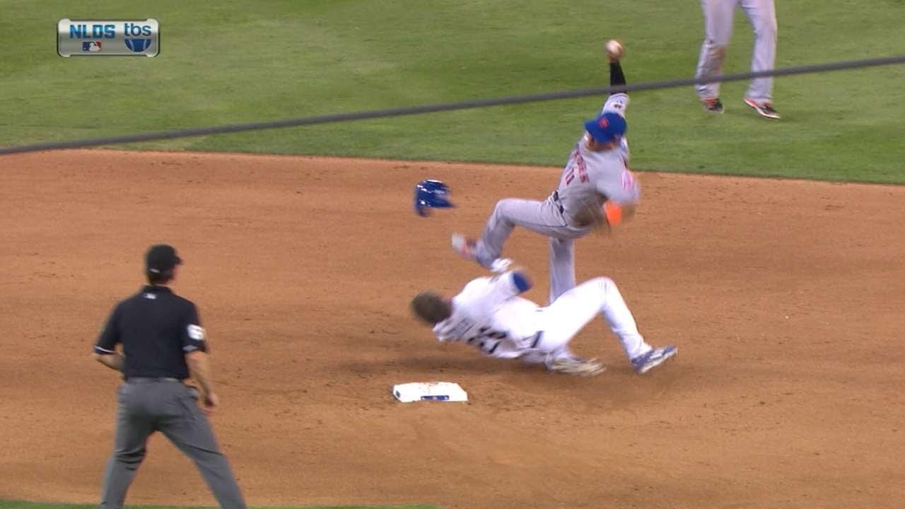 Chase Utley fractura la pierna de Rubén Tejada; MLB revisa el caso