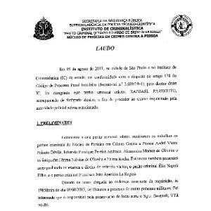 Polícia Civil disponibilizou para a imprensa parte dos nove laudos e 25 relatórios dos Institutos de Criminalística e Médico Legal relativos ao inquérito sobre o caso Pesseghini
