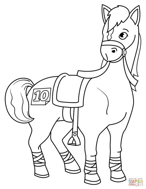 horse racing coloring pages  getcoloringscom