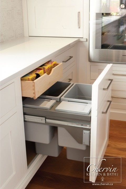 Cool Kitchen Garbage Can Storage images