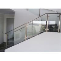 Top Mount Stainless And Glass Balustrade Staircase Steel Railing
