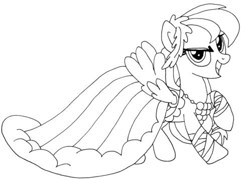 Kleurplaten Coloriage My Little Pony Rainbow Dash Coloriages U00e0