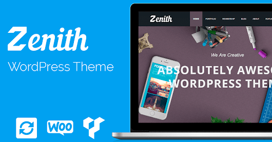 Zenith WordPress Theme - Responsive Portfolio Template - Visualmodo