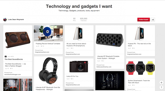 The 10 best Pinterest accounts to follow | The Gentlemans Journal | The latest in style and grooming, food and drink, business, lifestyle, culture, sports, restaurants, nightlife, travel and power.