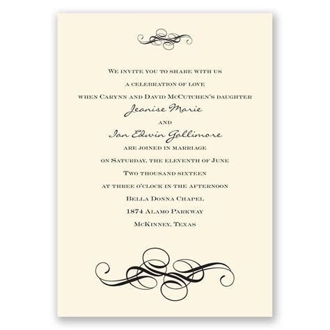 Fancy Flourishes Invitation   Invitations by Dawn