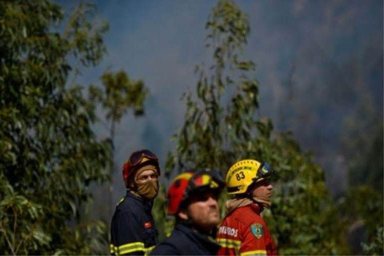 Ισχυρές δυνάμεις της πυροσβεστικής