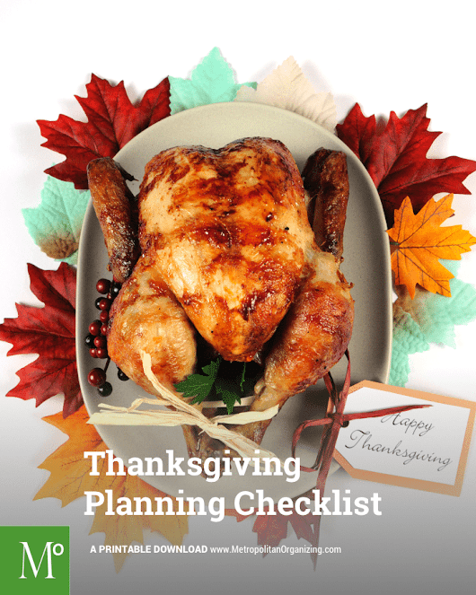 Turkey Day Timeline: How To Prepare For Thanksgiving - Metropolitan Organizing ®
