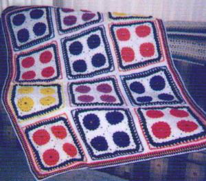zinnia crocheted afghan