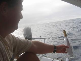 Sending a message in a bottle