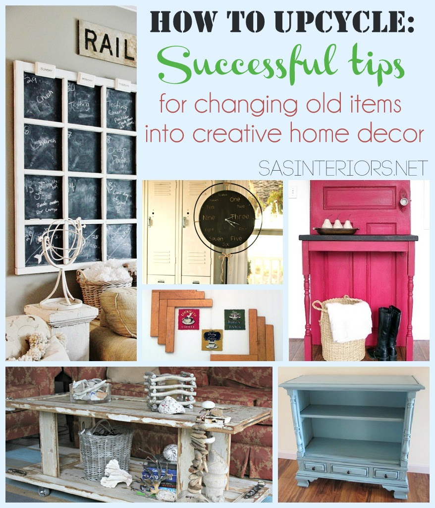 How To Upcycle Successful Tips For Changing Old Items Into Creative Home Decor Jenna Burger Design Llc