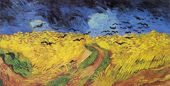 Vincent Van Gogh Crows over Wheatfield