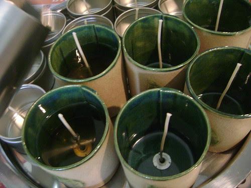 Bon Zai candles in the making