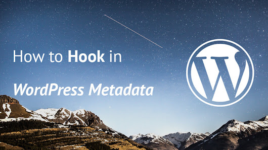 How to Hook in WordPress Metadata - Igor Benić