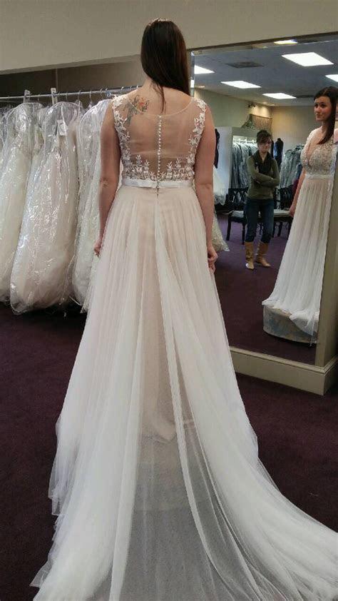 Lace Appliqued Soft Tulle Beach Wedding Dresses,Plus Size