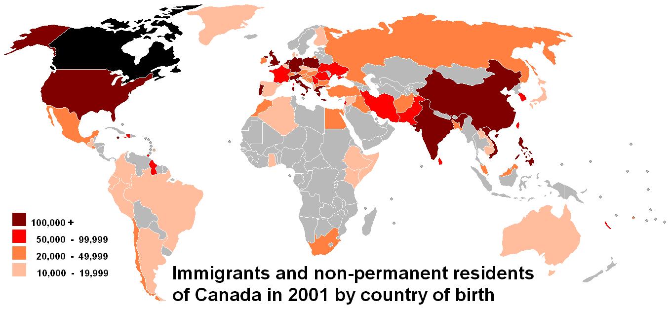 Imigratia canadiana din 2001