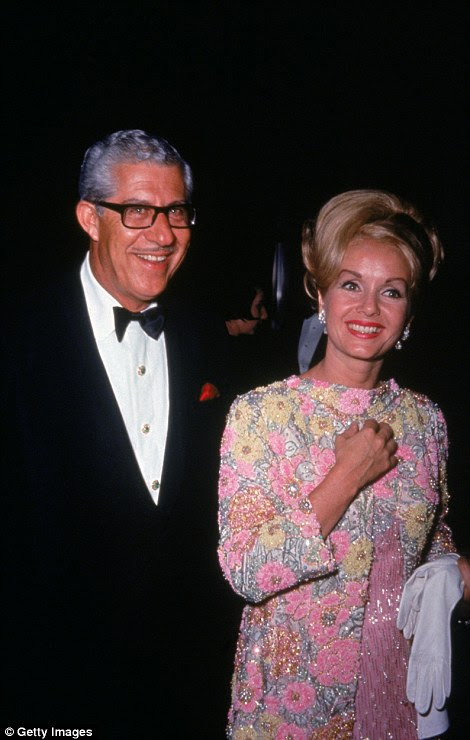 Karl and Reynolds (left in 1965) were married for 13 years before she divorced him in 1973 for squandering her fortune