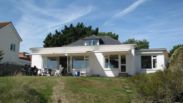 Tim Baldwin's former bungalow in Sandbanks