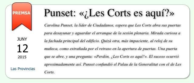 Notícia Las Províncias - Punset